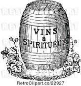 Vector Clip Art of Retro Wine Barrel with Text by Prawny Vintage