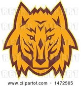Vector Clip Art of Retro Wolf Face by Patrimonio