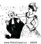 Vector Clip Art of Retro Woman Slapping a Man by Prawny Vintage