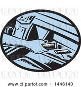 Vector Clip Art of Retro Woodcut Driver's Hand Reaching for an Energy Bar in a Glove Box by Patrimonio