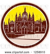 Vector Clip Art of Retro Woodcut of King's College Building, University of Cambridge by Patrimonio