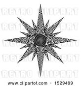 Vector Clip Art of Retro Woodcut Styled Christmas Star by AtStockIllustration