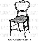 Vector Clip Art of Retro Wooden Chair by Prawny Vintage