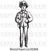 Vector Clip Art of Retro Worried Guy in by Picsburg