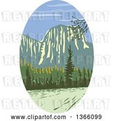 Vector Clip Art of Retro Wpa Styled Landscape of El Capitan in Yosemite National Park by Patrimonio