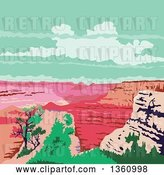 Vector Clip Art of Retro Wpa Styled Landscape of the Grand Canyon, Arizona, United States by Patrimonio