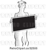 Vector Clip Art of Retro X Ray Patient by Picsburg
