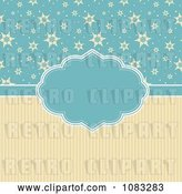 Vector Clip Art of Retro Yellow and Blue Christmas Star Background by KJ Pargeter