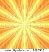 Vector Clip Art of Retro Yellow and Orange Burst Background by KJ Pargeter