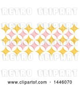 Vector Clip Art of Retro Yellow and Pink Geometric Star Pattern by Elena