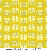 Vector Clip Art of Retro Yellow Background of White Rectangles by Prawny