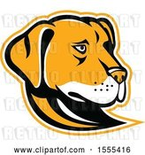 Vector Clip Art of Retro Yellow Labrador Dog Mascot Head by Patrimonio