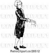 Vector Clip Art of Retro Young Guy Holding a Letter by Prawny Vintage
