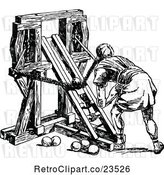 Vector Clip Art of Roman Soldier Loading a Ballista by Prawny Vintage