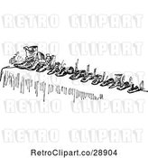 Vector Clip Art of Row of Shoes by Prawny Vintage