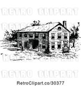 Vector Clip Art of Rustic Building by Prawny Vintage