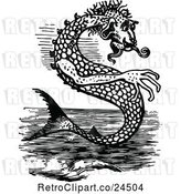 Vector Clip Art of Sea Monster by Prawny Vintage
