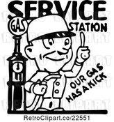 Vector Clip Art of Service Station Gas Attendant by BestVector