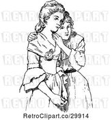 Vector Clip Art of Sisters by Prawny Vintage