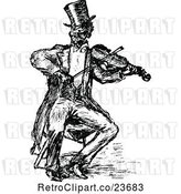 Vector Clip Art of Sketched Guy Playing a Violin by Prawny Vintage
