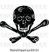 Vector Clip Art of Skull and Crossbones 2 by Prawny Vintage