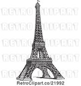 Vector Clip Art of Styled Eiffel Tower by BestVector