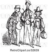 Vector Clip Art of Three Men in by Picsburg