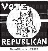 Vector Clip Art of Vote Republican Elephant by BestVector