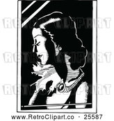 Vector Clip Art of Woman by Prawny Vintage