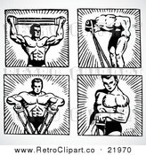August 19th, 2017: Vector Clipart Body Builder by BestVector