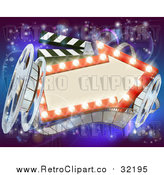 August 17th, 2017: Vector Clipart of a Retro Arrow Marquee Theater Sign by AtStockIllustration