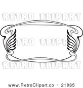 Vector Clipart of a Retro Art Deco Styled Border by BestVector