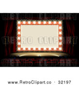 Vector Clipart of a Retro Marquee Theater Sign by AtStockIllustration