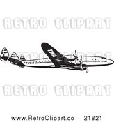 Vector Clipart of a Retro Plane by BestVector