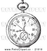 August 19th, 2017: Vector Clipart of a Retro Pocket Watch by BestVector