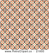 August 19th, 2017: Vector Clipart of a Seamless Background of Brown, Green and Orange Kaleidoscope Crosses by BestVector