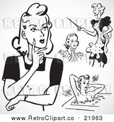 August 19th, 2017: Vector Clipart of Retro Ladies by BestVector