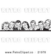 August 19th, 2017: Vector Clipart of Retro Men and Women in Black and White by BestVector