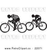 August 19th, 2017: Vector Clipart of Retro Men Riding Bicycles by BestVector