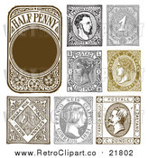 August 19th, 2017: Vector Clipart of Retro Stamp Designs by BestVector