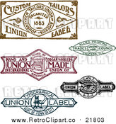 August 19th, 2017: Vector Clipart of Retro Union Labels by BestVector