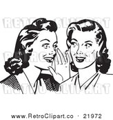 August 19th, 2017: Vector Clipart of Two Gossiping Retro Ladies by BestVector