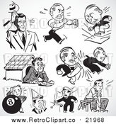 August 19th, 2017: Vector Clipart Retro Black and White Upset and Mad Businessmen by BestVector