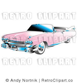 pink convertible 1959 cadillac
