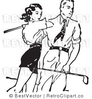 Golf Clip Art Black and White