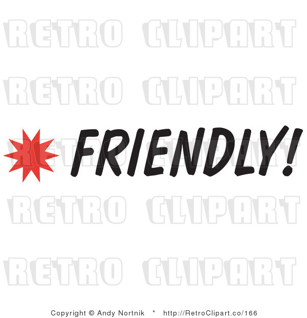 Clip Art Friendly Sign Royalty Free Retro Vector