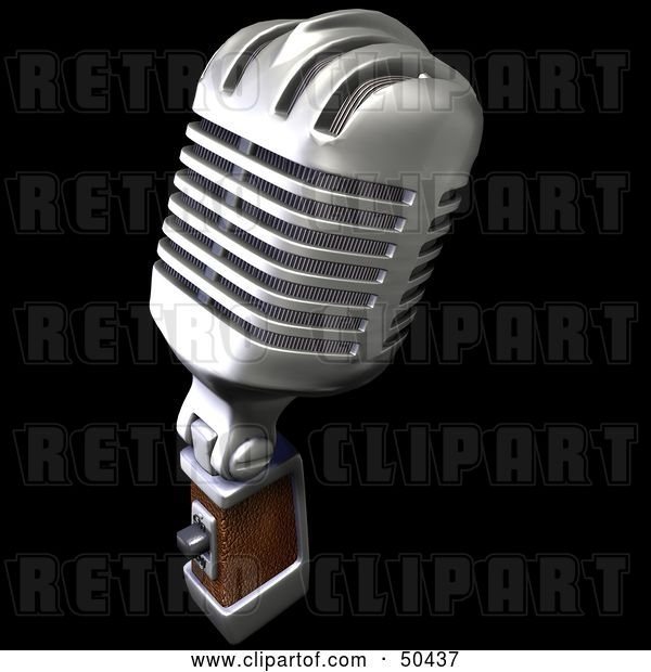 Clip Art of Retro Microphone - Version 2