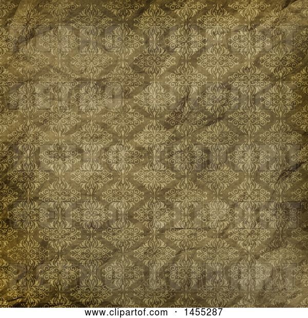 Clip Art of Retro Wrinkled Wallpaper Texture Background
