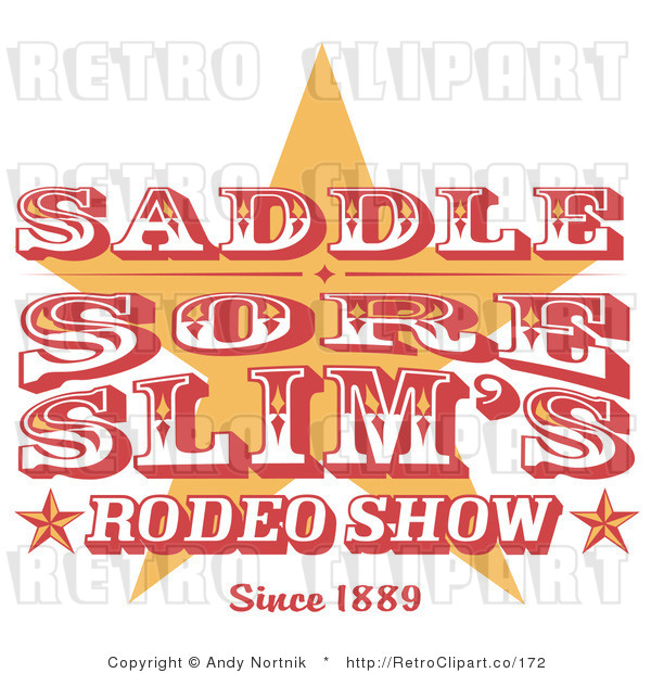 Clip Art Rodeo Sign Royalty Free Retro Vector