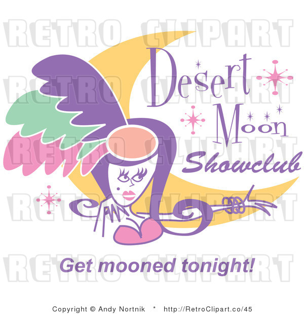 Retro Vector Clip Art of a Showgirl with Sample Text